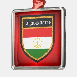 タジキスタンの旗 メタルオーナメント