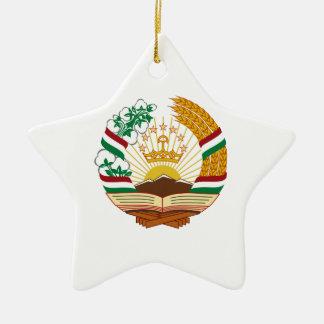 タジキスタンの紋章付き外衣 セラミックオーナメント