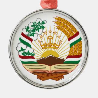 タジキスタンの紋章付き外衣 メタルオーナメント
