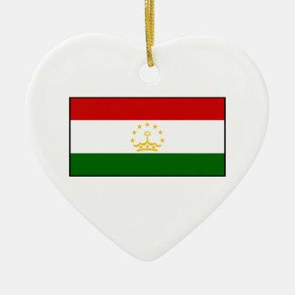 タジキスタン-タジクの旗 セラミックオーナメント