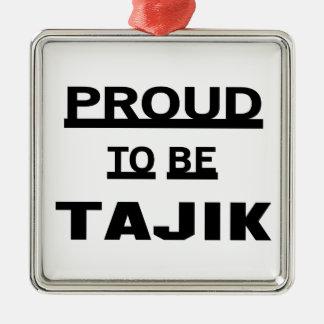 タジク語があること誇りを持った メタルオーナメント