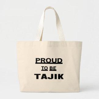 タジク語があること誇りを持った ラージトートバッグ