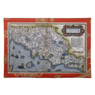 タスカニーのヴィンテージの地図 ランチョンマット