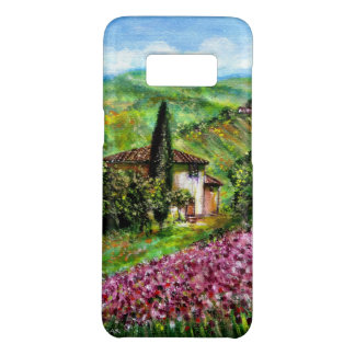 タスカニーの紫色の花分野の景色のアイリス Case-Mate SAMSUNG GALAXY S8ケース