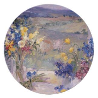 タスカニーの花柄 プレート