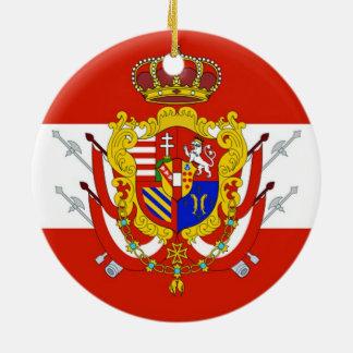 タスカニーの赤く白い旗の大公国 セラミックオーナメント