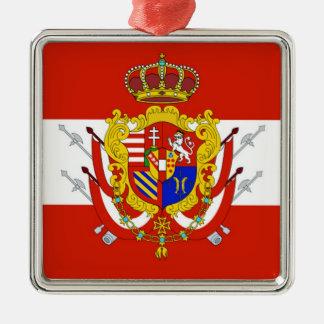 タスカニーの赤く白い旗の大公国 メタルオーナメント