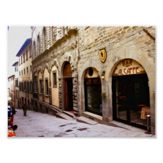 タスカニー。 イタリア。 Cortona ポスター
