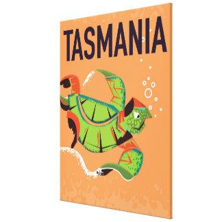 タスマニアのヴィンテージ旅行ポスター キャンバスプリント