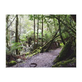 タスマニアの木の山分野の国立公園オーストラリア キャンバスプリント