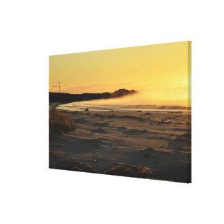 タスマニアの東海岸2の火の湾 キャンバスプリント