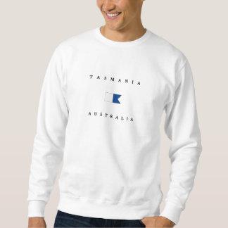タスマニアオーストラリアのアルファ飛び込みの旗 スウェットシャツ