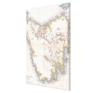 タスマニア(1837年)のヴィンテージの地図 キャンバスプリント