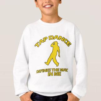 タップダンスのデザイン スウェットシャツ