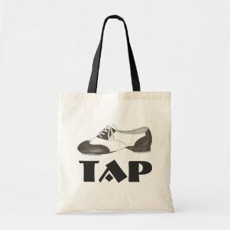 タップダンスの白黒のオックスフォードの靴のダンサーのギフトバッグ トートバッグ