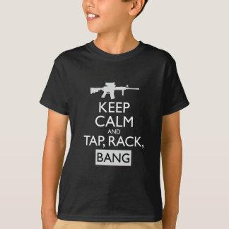 タップ、棚、強打 Tシャツ