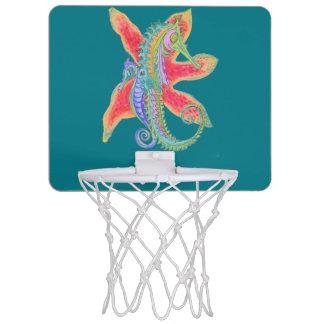 タツノオトシゴおよびヒトデのバスケットボールたが ミニバスケットボールゴール