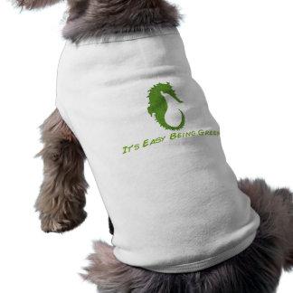 タツノオトシゴそれは容易な犬のTシャツです ペット服