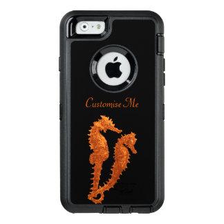 タツノオトシゴのダンス(オレンジ) オッターボックスディフェンダーiPhoneケース