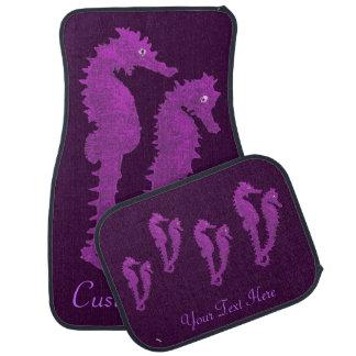 タツノオトシゴのダンス(紫色) カーマット