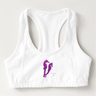 タツノオトシゴのダンス(紫色) スポーツブラ