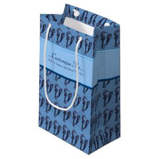 タツノオトシゴのダンス(青い) スモールペーパーバッグ