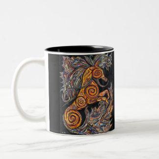 タツノオトシゴのマグ ツートーンマグカップ