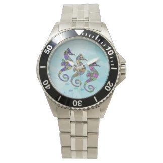 タツノオトシゴの虹 腕時計