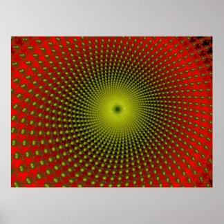 タツノオトシゴの螺線形(プリント) ポスター
