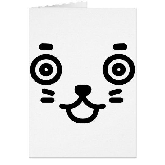 タヌキの顔 カード