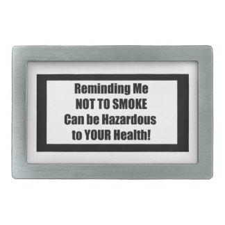 タバコのラベルのからかい-私にNtS思い出させます 長方形ベルトバックル