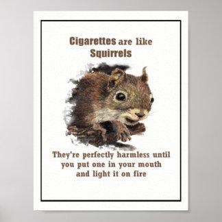 タバコはリスのやる気を起こさせるな引用文のようです ポスター