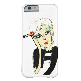 タバコ(iPhone 6)を持つ女性 Barely There iPhone 6 ケース