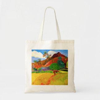 タヒチのトートバックのGauguin山 トートバッグ