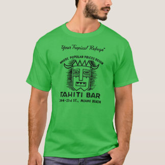 タヒチのバー(前部および背部) Tシャツ