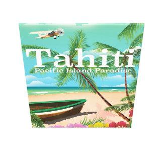 タヒチのヴィンテージ旅行ポスター キャンバスプリント