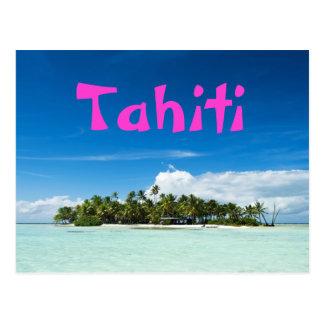 タヒチの島の郵便はがき ポストカード