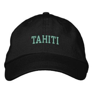タヒチ1つの帽子 刺繍入りキャップ