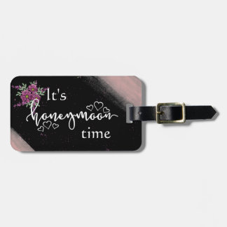 タフィーのピンクの花の新婚旅行の荷物のラベル バッグタグ
