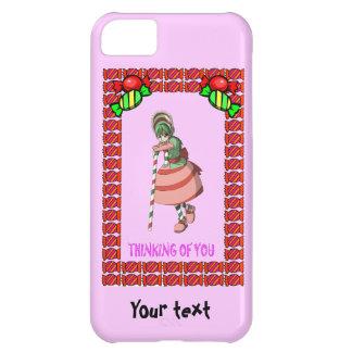 タフィーを持つキャンディ・ケーンの女の子 iPhone5Cケース