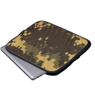 タブレット及びラップトップスリーブ-迷彩柄-デジタル砂漠 ラップトップスリーブ