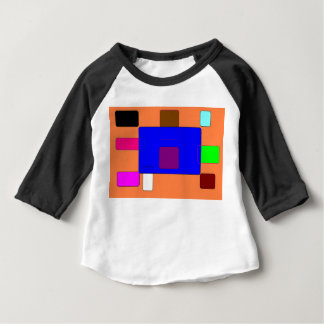 タブ-オレンジBackgroundv2のカラフルな抽象美術 ベビーTシャツ