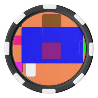 タブ-抽象美術 ポーカーチップセット