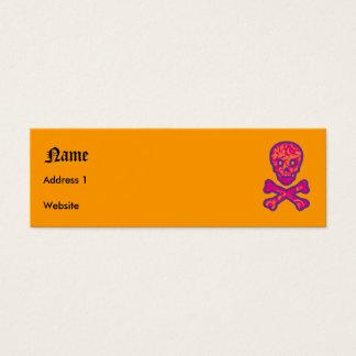 タペストリーのヘッド紫色 スキニー名刺