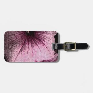 タペストリーの織り目加工のピンクおよび黒いペチュニア ラゲッジタグ
