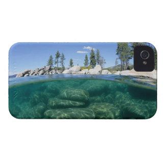 タホ湖の上下 Case-Mate iPhone 4 ケース