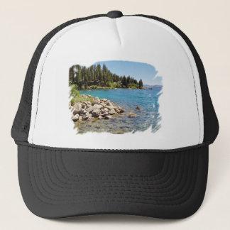 タホ湖のTシャツのデザイン キャップ