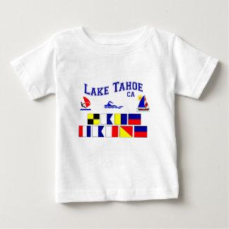 タホ湖カリフォルニアのシグナルフラグ ベビーTシャツ