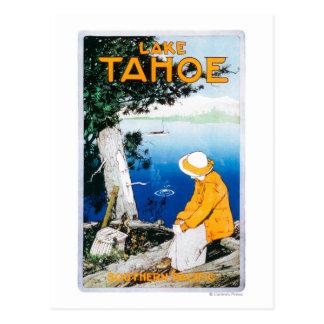 タホ湖昇進のPosterLake Tahoe、カリフォルニア ポストカード