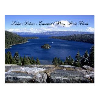 タホ湖-エメラルド湾の州立公園 ポストカード